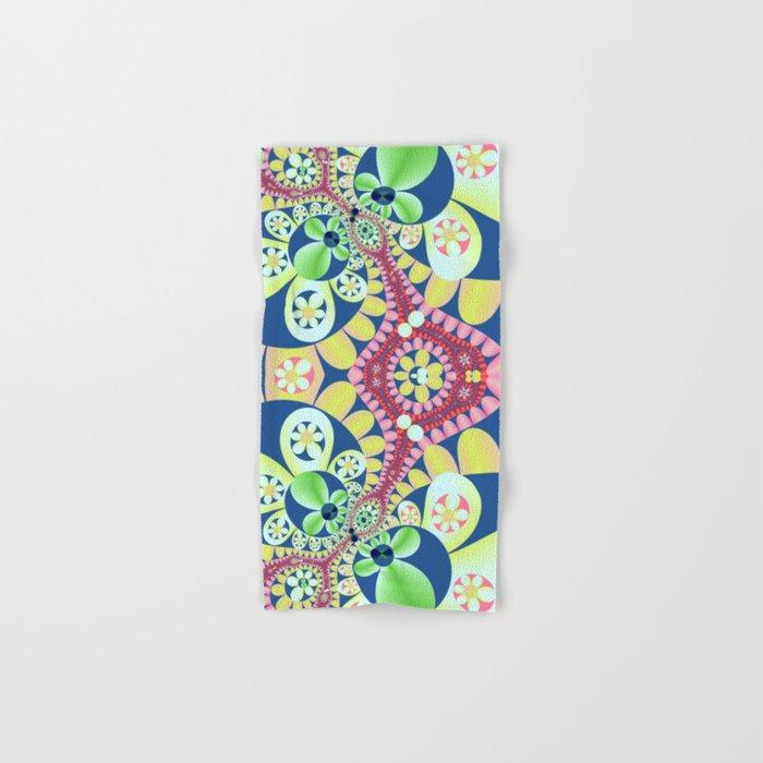 Floral fantasy pattern design Hand & Bath Towel
