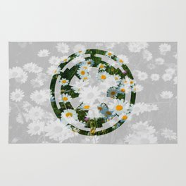 Imperial Cog and Daisies Rug