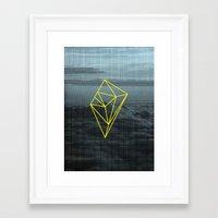 geometry Framed Art Prints featuring Geometry by Geometry