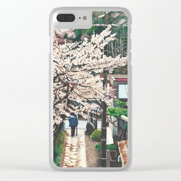 Passing by Cherry Blossoms Clear iPhone Case