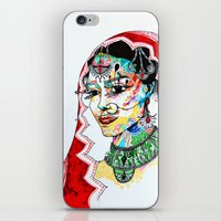 indian iPhone & iPod Skins featuring Indian by Cemile Demir Uzunoglu