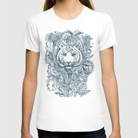 leaves T-shirts featuring Tiger Tangle by micklyn