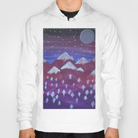 middle earth Hoodies featuring Lost in Middle earth by moonlight by ForestSeaSky2000