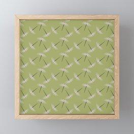 Pixies Floral Minimalist Greenery Garden Pattern Framed Mini Art Print