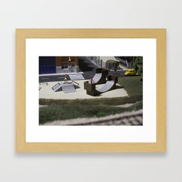 Miniature skatepark Framed Art Print