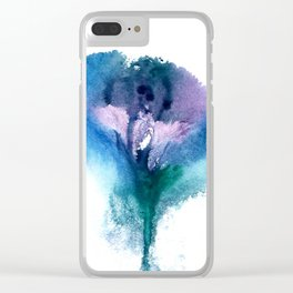 Isabella's Vulva Flower Clear iPhone Case