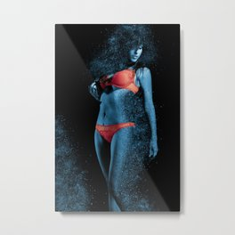When She Explodes Metal Print