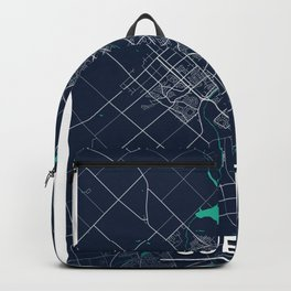 Guelph Blue Dark Color City Map Backpack
