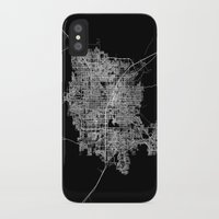 las vegas iPhone & iPod Cases featuring Las Vegas map by Line Line Lines
