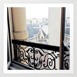 View Out My Parisian Window Art Print