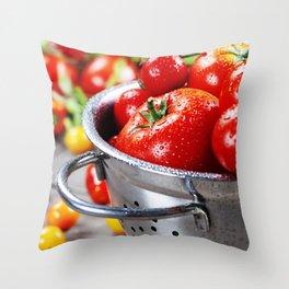 fresh tomatoes Throw Pillow