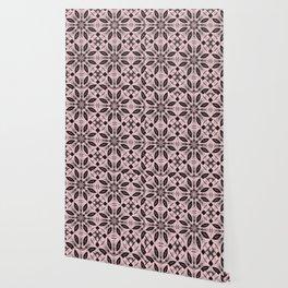 Blushing Bride Floral Pattern Wallpaper