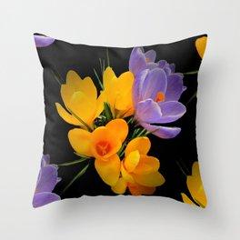 Think Spring - Crocuses Throw Pillow