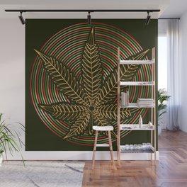 Golden Weed Wall Mural