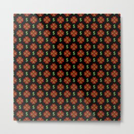 Dollar Sign Graphic Pattern Metal Print