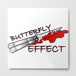 Butterfly Effect Metal Print