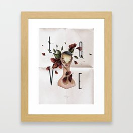 // L O V E // Framed Art Print