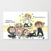 cyrilliart Canvas Prints featuring Flower Fight by Cyrilliart