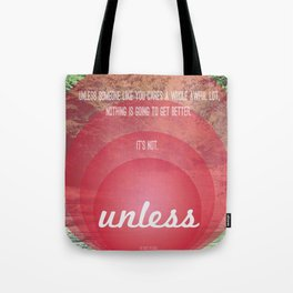 Unless | Red Tote Bag
