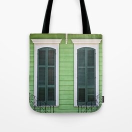 Green Creole Cottage Tote Bag