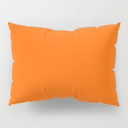 Solid Orange Pillow Sham