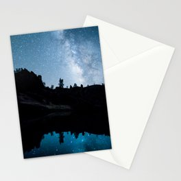Late Night Milky Way Landscape Stationery Cards