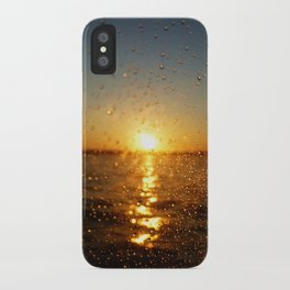 Sunset Glass Water Drops Color Photo iPhone Case