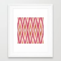 diamonds Framed Art Prints featuring DIAMONDS by pattern paint