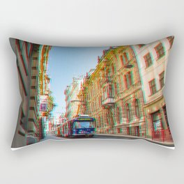 Tram in the historic district Rectangular Pillow