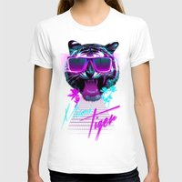 miami T-shirts featuring Miami Tiger by Robert Farkas