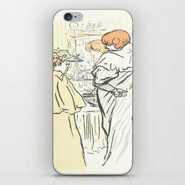 """Henri de Toulouse-Lautrec """"Alors vous êtes sages"""" iPhone Skin"""