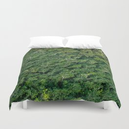 Arial tropical forest Duvet Cover