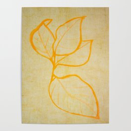 yellow nature abstract Poster