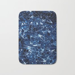 Blue stone with small shells Bath Mat