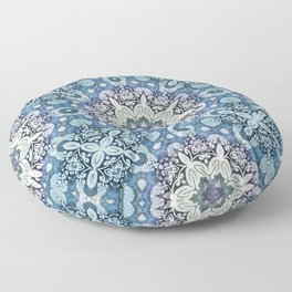 winter mandala pattern Floor Pillow