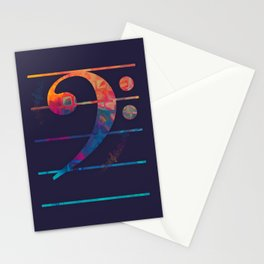 Bass Clef Color Stationery Cards