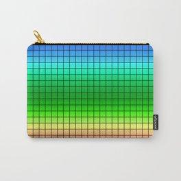 Rainbow plaid #Rainbow #plaid #Ombre #gradient Carry-All Pouch