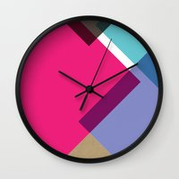 triangles Wall Clocks featuring Triangles by Pencil Me In ™