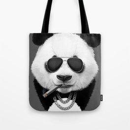Panda in Black Tote Bag
