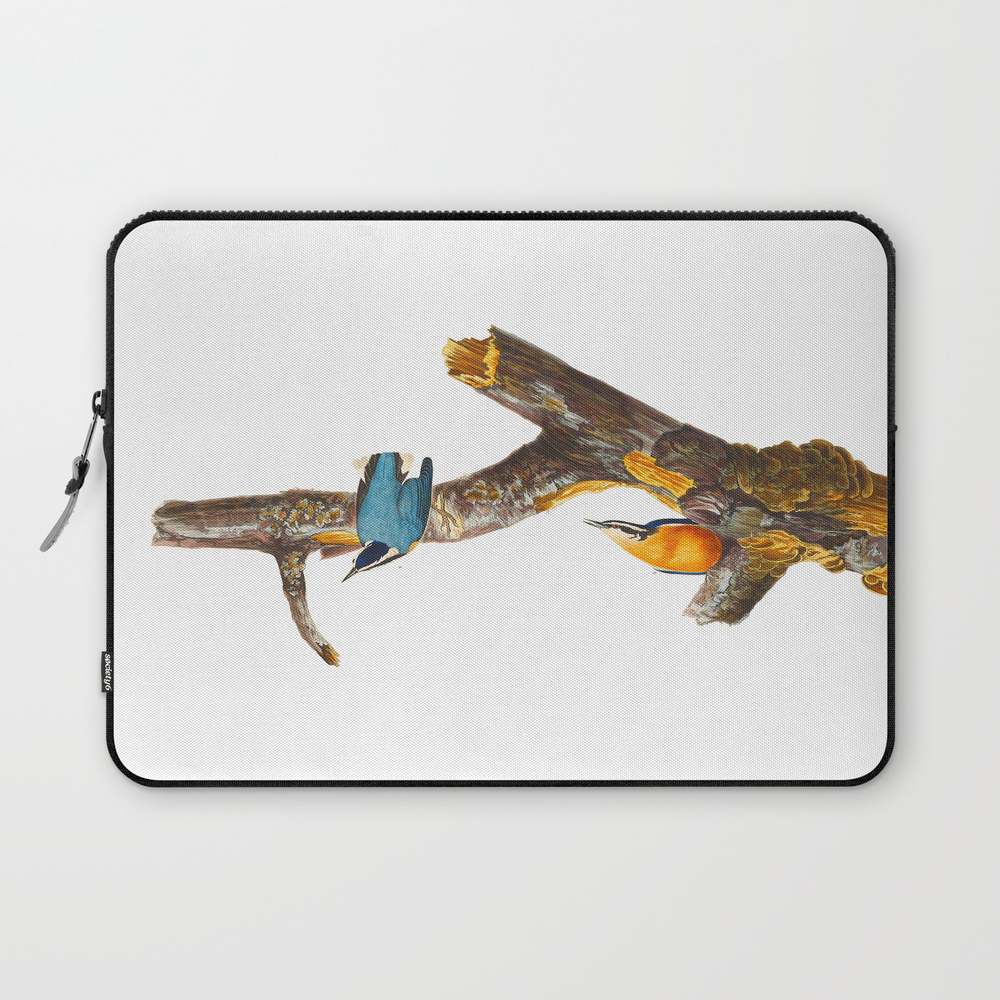 Red-Breasted Nuthatch Bird Laptop Sleeve by enshape (LSV6427642) photo