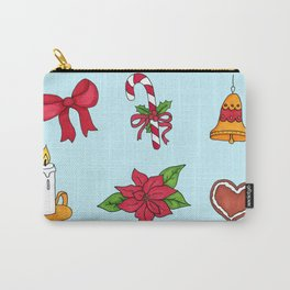 Christmas pattern (#2 blue) Carry-All Pouch