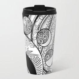 Mystic Moons in Black Travel Mug