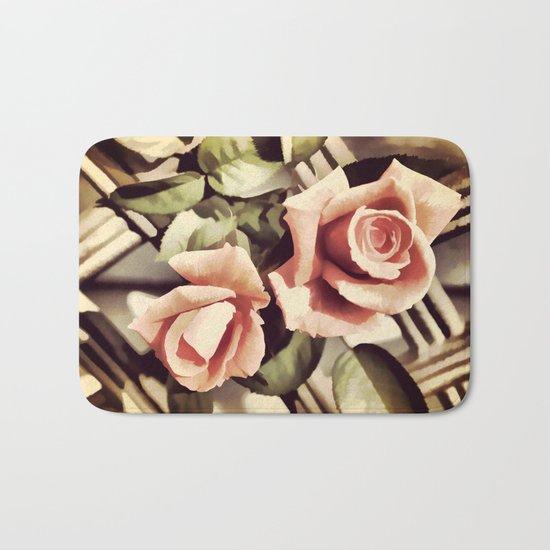 Vintage Rose Garden - Painterly Bath Mat