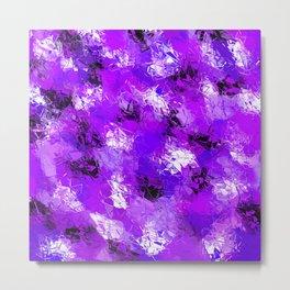 Fractured Ultra Violet Pattern Metal Print