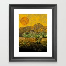 Just Chilling and Dreaming...(Lizard) Framed Art Print