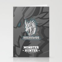 monster hunter Stationery Cards featuring Monster Hunter All Stars - The Dondruma Hurricanes by Bleached ink