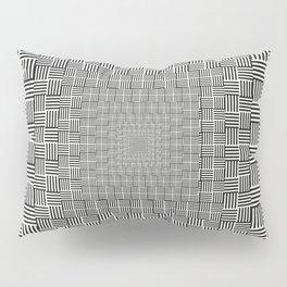 Black & White Basket Weave Pillow Sham