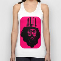 literature Tank Tops featuring Outlaws of Literature (Allen Ginsberg) by Silvio Ledbetter