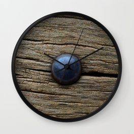 Wood and iron Wall Clock