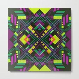 Techno Aztec I Metal Print